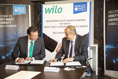 Heriot-Watt Dubai and Wilo Middle East sign MoU