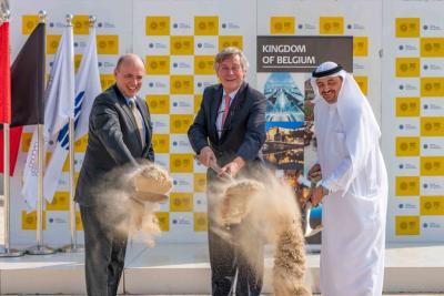 Belgium pavilion construction works get underway at Expo 2020 site