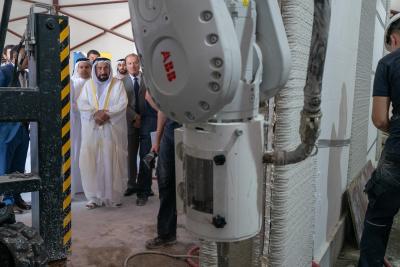 Sharjah Ruler visits 3D-printed homes construction site at SRTI Park