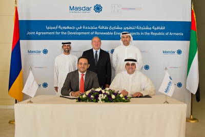 Masdar and ANIF join forces to pursue 400MW of solar power projects in Armenia