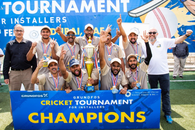 Grundfos and MAHY Khoory & Co arranges cricket tournament to support the plumbers and installers in the UAE