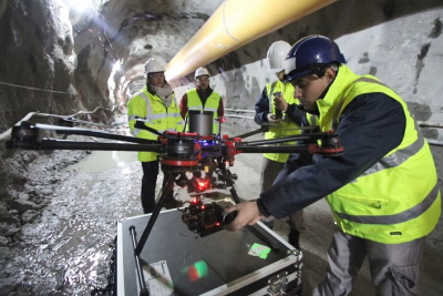 Drones being used to obtain digital models for construction projects