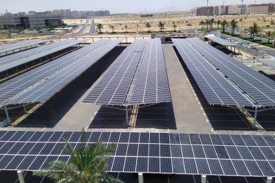 Dubai International Academic City, Dubai Outsource City complete solar PV carports in partnership with ENOVA