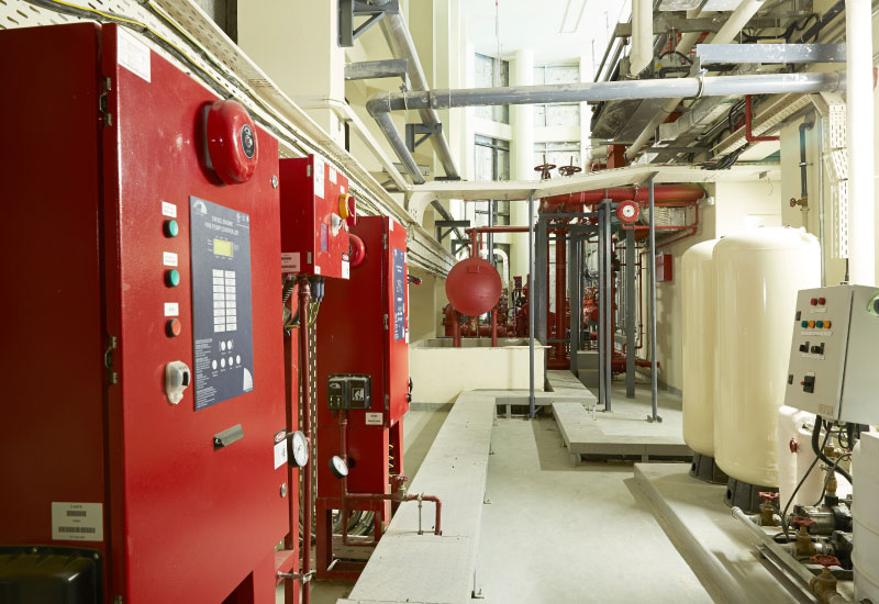 The mechanical room on the 36th floor.
