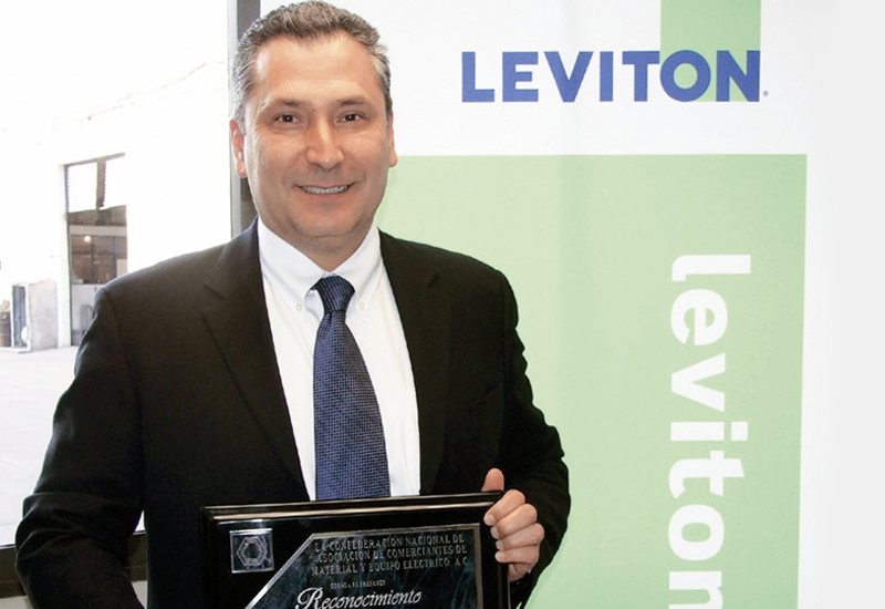 Bruno Filio at the Leviton office opening.