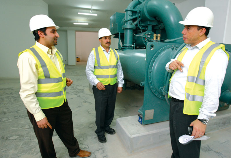 DSI project engineer Walid Eid (left), project manager Yasin Sara (middle) and operations manager Nizar Baraka (right).