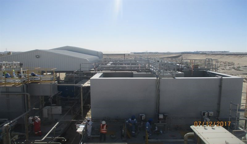 The new plant can treat wastewater that is polluted by industrial wastewater, oils, heavy metals, and acidic and alkaline waste.
