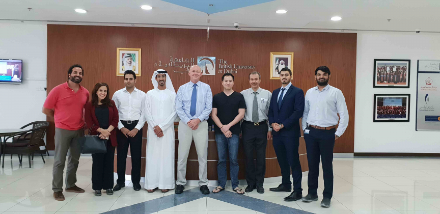 PhD. Eric Woodroof, a founder of the PCF course, with TAQATI/BUiD team and the course attendees.