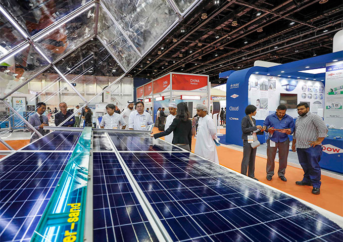 The exhibition coincides with the fourth Dubai Solar Show.