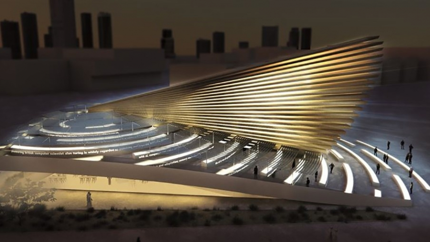 The centrepiece of the design will be a 20-metre-high cone-shaped, cross laminated timber construction, which will be the focus of the UK's presence at the international exhibition from 20 October 2020 to 10 April 2021.