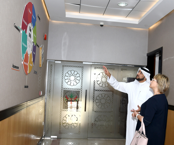The meeting also touched on the authority's smart initiatives to provide the best services to the clients.