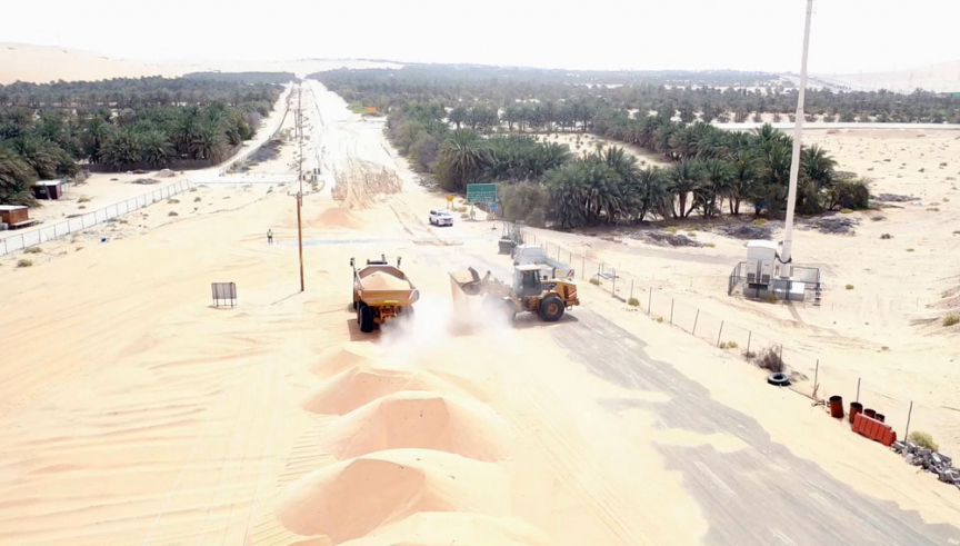 The Shah Field-Mezairaa link road project consists of two packages.