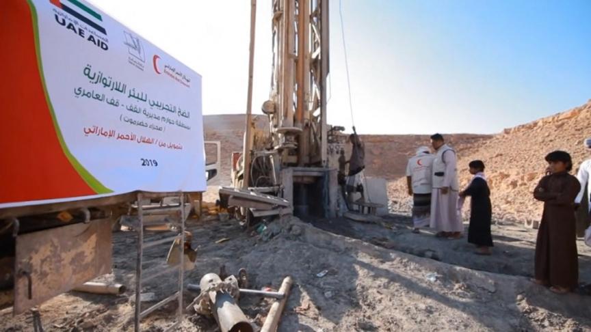 Emirates Red Crescent, Yemen, Water scarcity