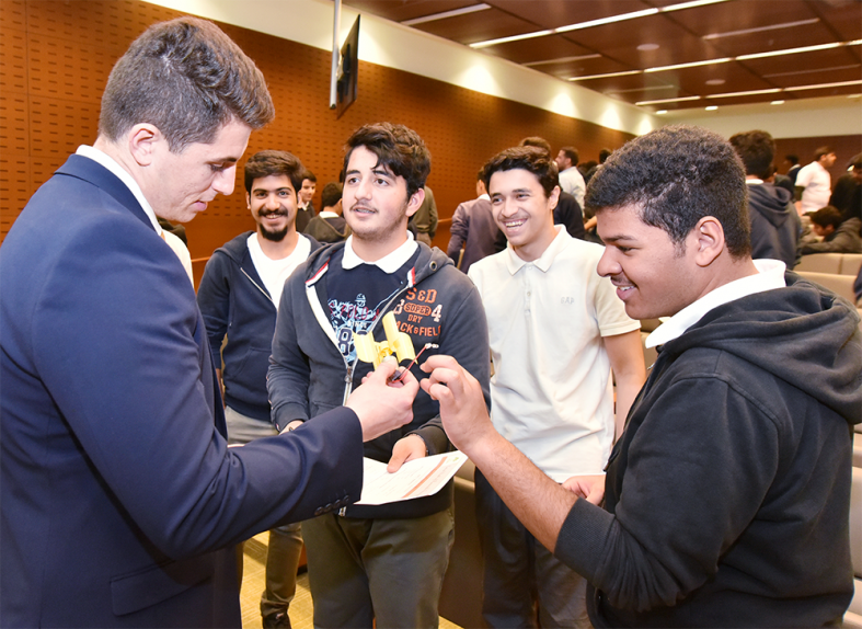 BAE Systems' engineers, who work on the company's world-leading aircraft and aerospace technologies, spent time teaching and guiding the students at the special workshop sessions.