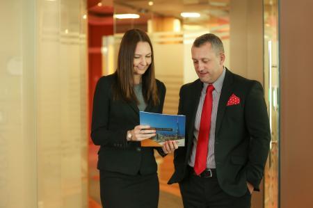 Philippa Carman, Emrill head of business development; Stuart Harrison, Emrill CEO.