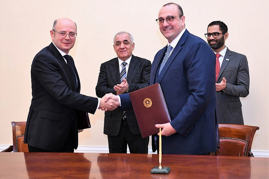 Under the agreement, the project will be located 75 kilometres southwest of Baku.
